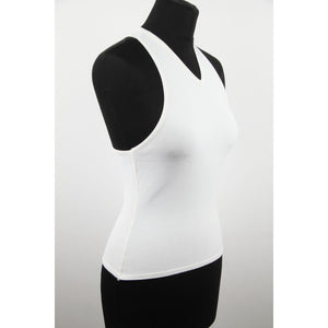 Gucci White Racer Back Sleeveless Small Top Made In Italy Opherty & Ciocci