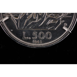 500 Lire Commemorative Coin Sterling Silver Opherty & Ciocci
