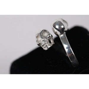 925 Sterling Silver 2 Skulls Ring Usa Size 7 Opherty & Ciocci