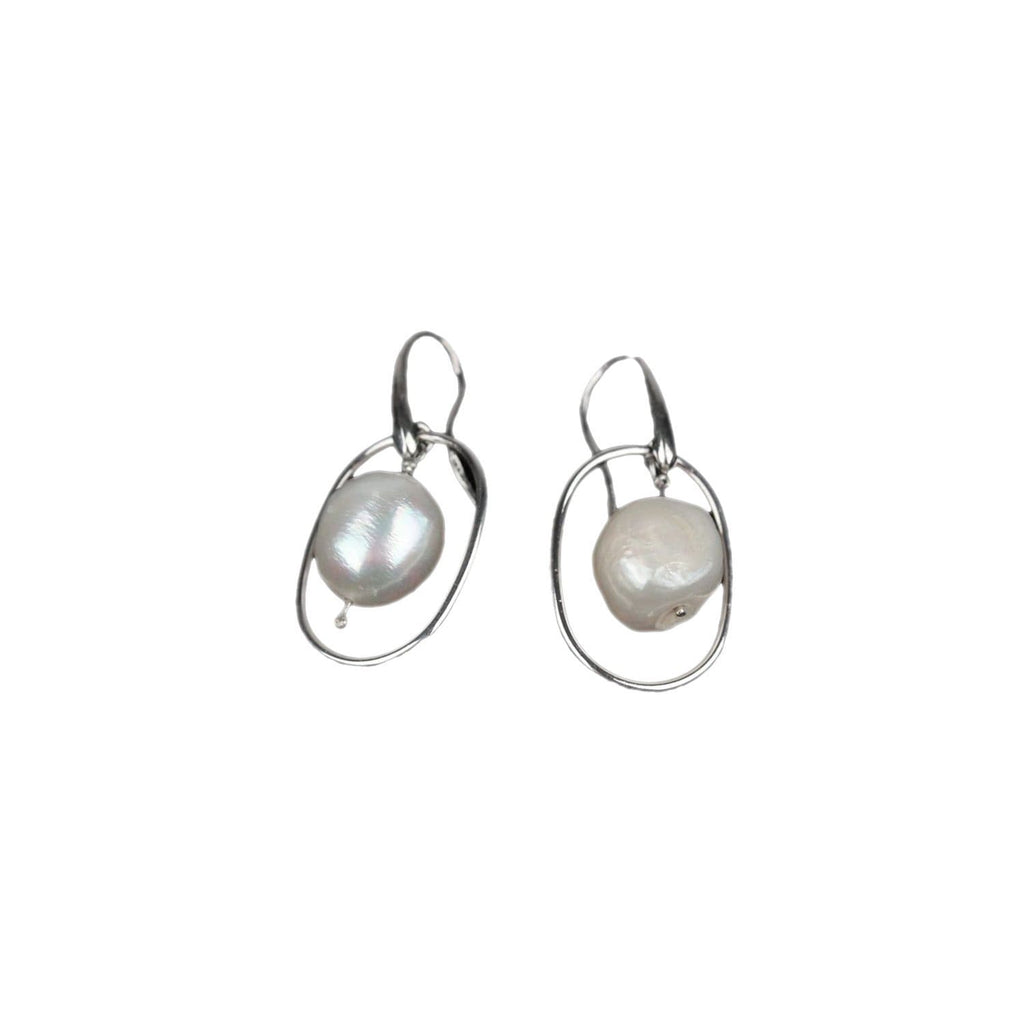 925 Sterling Silver Earrings With Baroque Pearls Opherty & Ciocci