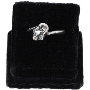 925 Sterling Silver Skull Ring Usa Size 7 Opherty & Ciocci