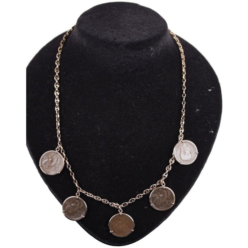 Ancient Lira Coin Charms Necklace Opherty & Ciocci