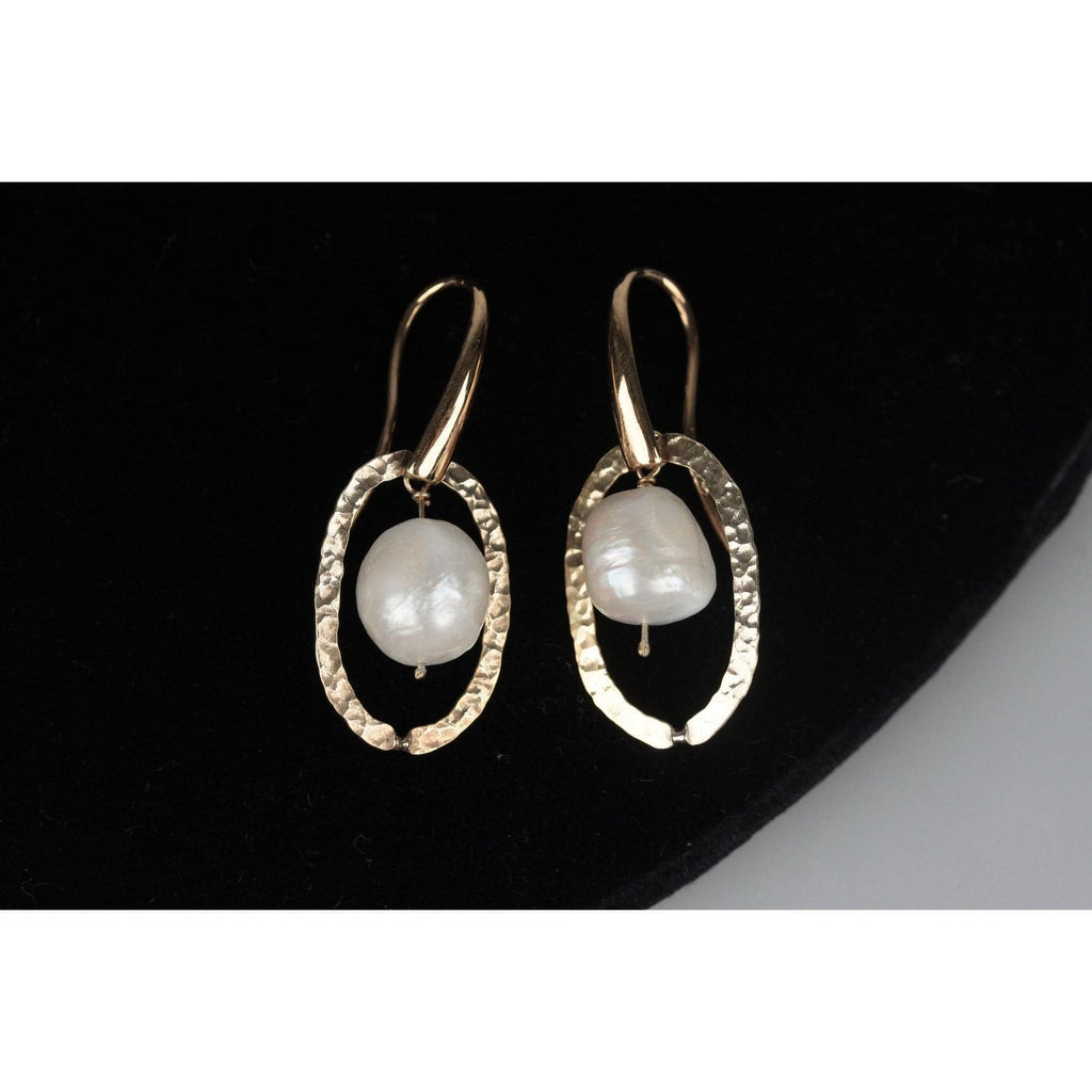 Gilded Sterling Silver Earrings With Baroque Pearls Opherty & Ciocci
