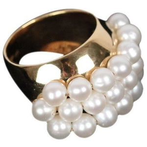 Gilded Sterling Silver With Small Round Freshwater Pearls Opherty & Ciocci