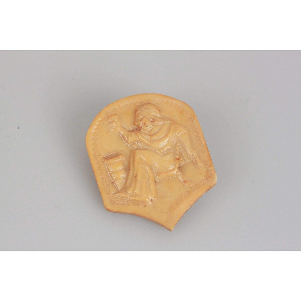 Resin Medieval Carved Brooch Opherty & Ciocci