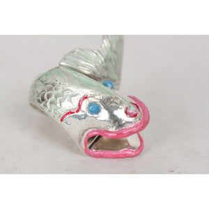 Sterling Silver 925 Enamel Fish Ring Opherty & Ciocci