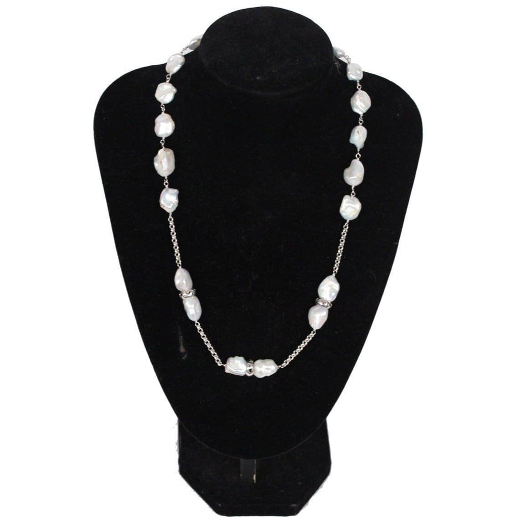 Sterling Silver And Baroque Pearls Necklace Opherty & Ciocci