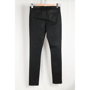 Helmut Lang Black Stretch Cotton Leggings Skinny Pants Size 26 Opherty & Ciocci