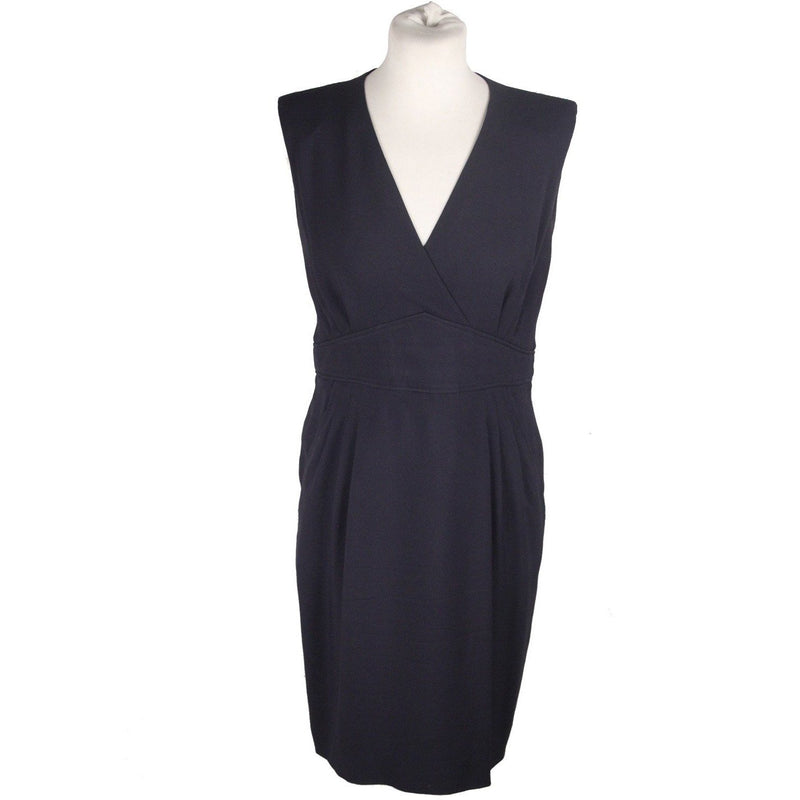 Hermes Navy Blue SHEATH DRESS Sleeveless SIZE 36