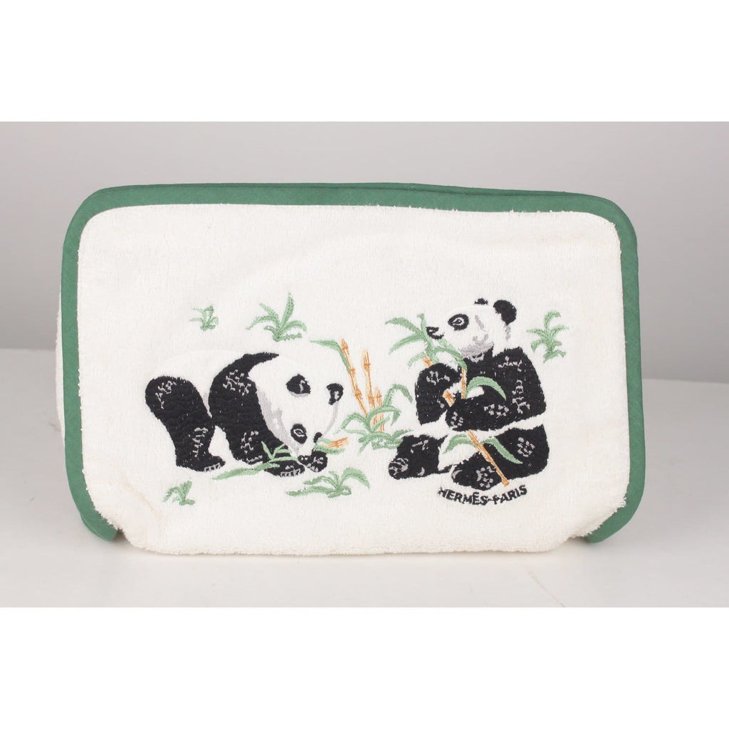 Terry Cloth Cosmetic Bag With Panda Opherty & Ciocci