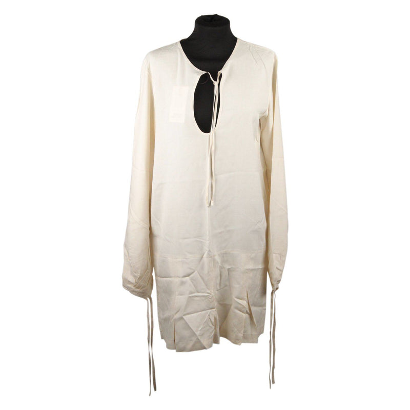 House Of Jazz White Silk Tunic Blouse Dress Opherty & Ciocci