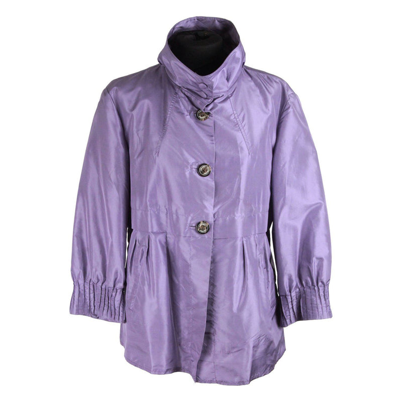 Iblues Light Purple Silk Windbreaker Jacket Size 42 Opherty & Ciocci