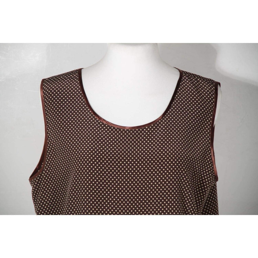 Vintage Polka Dots Sleeveless Top Size Xl Opherty & Ciocci
