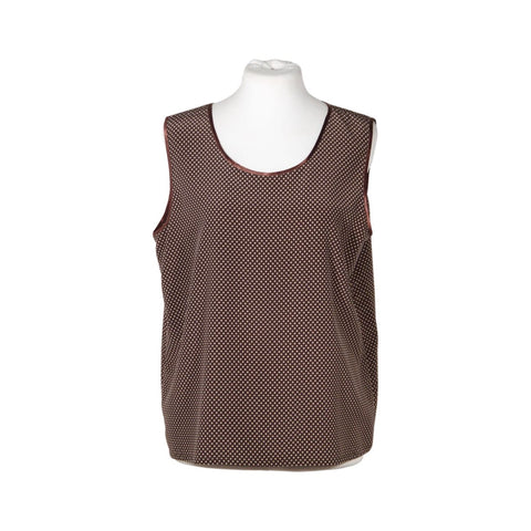 GIORGIO ARMANI Gray and Red Checkered CAMI TOP