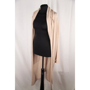 Italian Beige Cashmere & Silk Long Cardigan Sweater Size 40 Opherty & Ciocci