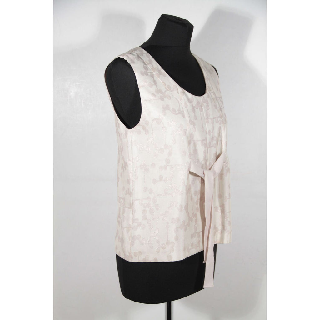 Ivory Silk Small Sleeveless Top Opherty & Ciocci