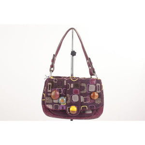 Geometric Pattern Fabric Shoulder Bag Opherty & Ciocci