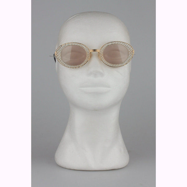 Jean Paul Gaultier Vintage Gold Sunglasses 56-5201 New Old Stock Opherty & Ciocci