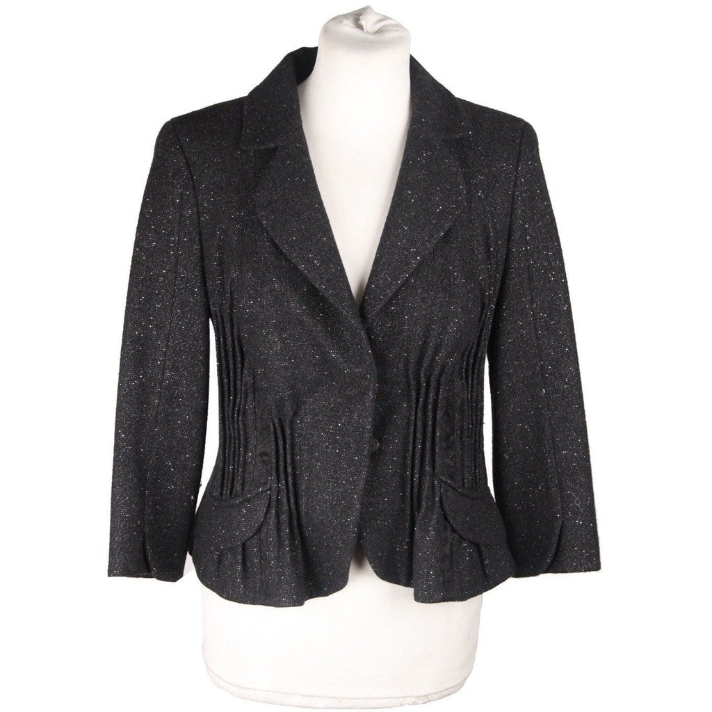 JOHN GALLIANO Black Wool & Cashmere  BLAZER Jacket SIZE 6