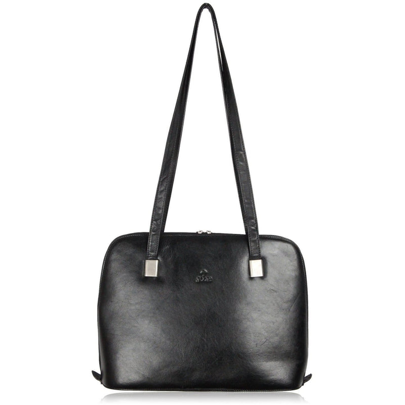 Joop! Black Leather Shoulder Bag Work Bag Opherty & Ciocci