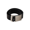 Karl Lagerfeld For H&m Black Leather Waist Belt Size 80 Opherty & Ciocci