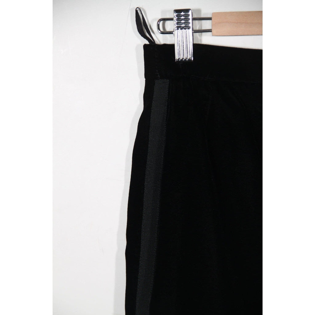 Karl Lagerfeld Vintage Black Velvet Pencil Skirt Knee Lenght Opherty & Ciocci