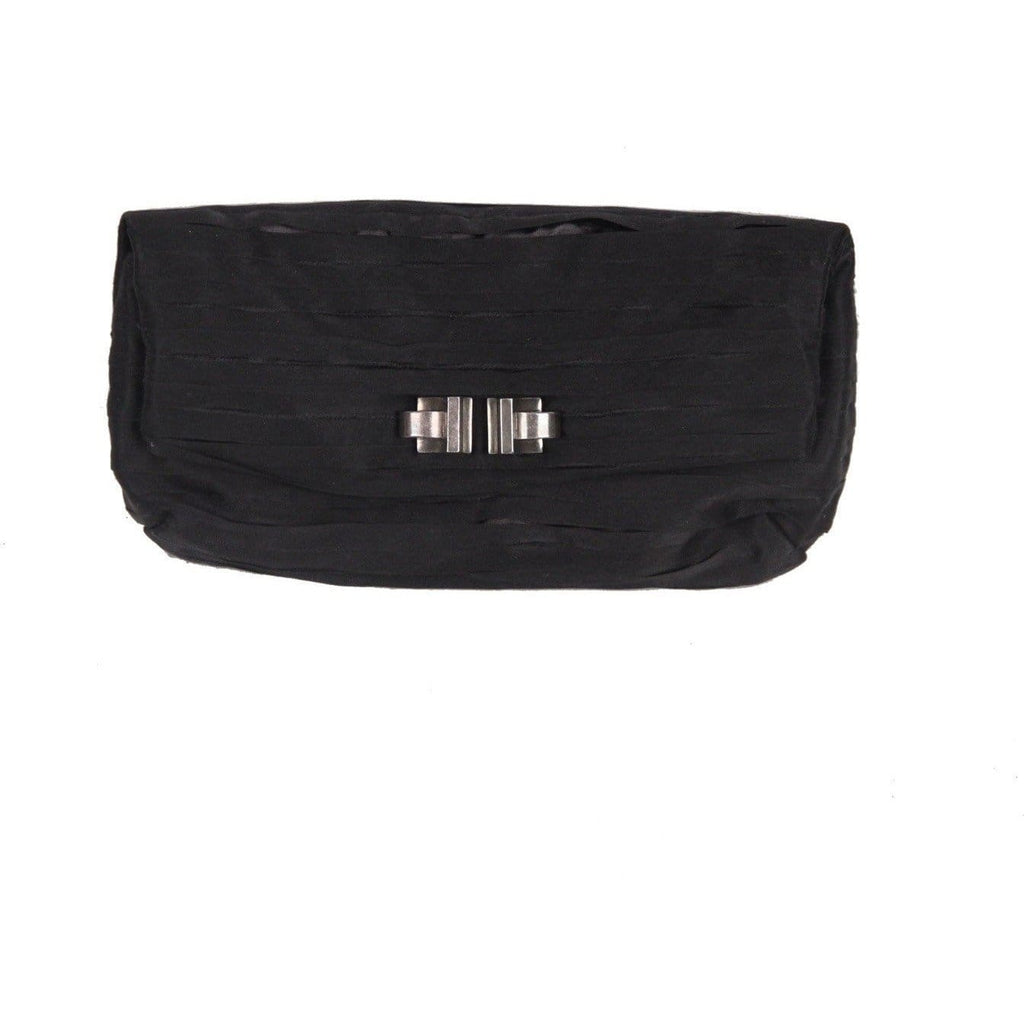 Lanvin Black Satin Ribbon Clutch Bag Opherty & Ciocci