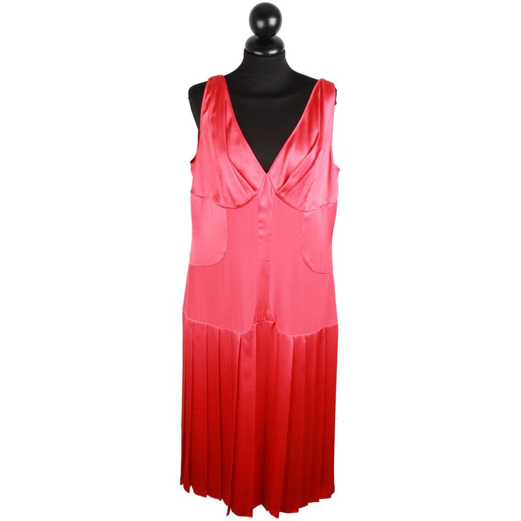 LAURA BIAGIOTTI Red Silky SHEATH DRESS Sleeveless