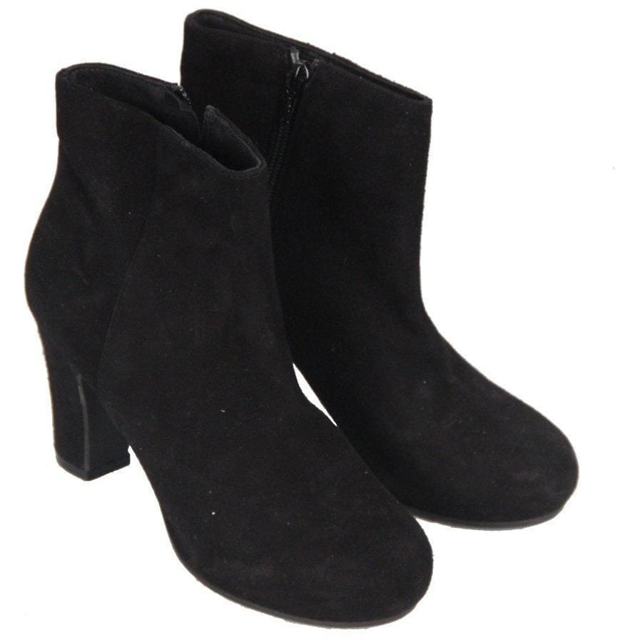 Le Trancanelli Black Suede Heeled Ankle Boots Heels Size 37 Opherty & Ciocci
