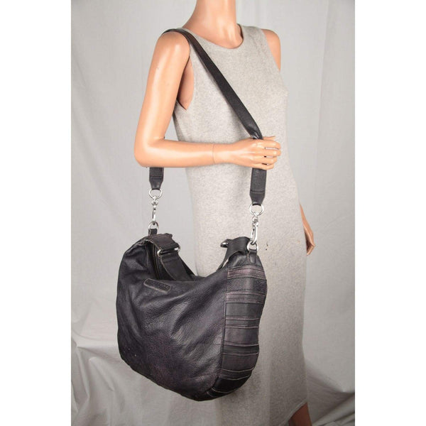 Liebeskind Berlin Dark Gray Leather Large Shoulder Bag Tote Opherty & Ciocci
