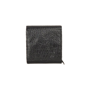 LIEBESKIND Black Leather COMPACT Flap WALLET Coin Purse