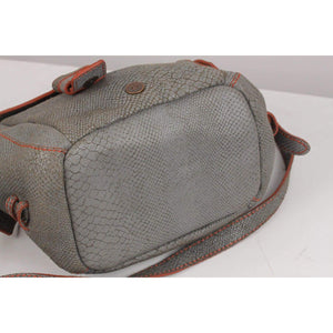 Embossed Snake Leather Messenger Bag Opherty & Ciocci