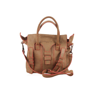 Embossed Snake Leather Satchel Bag Opherty & Ciocci