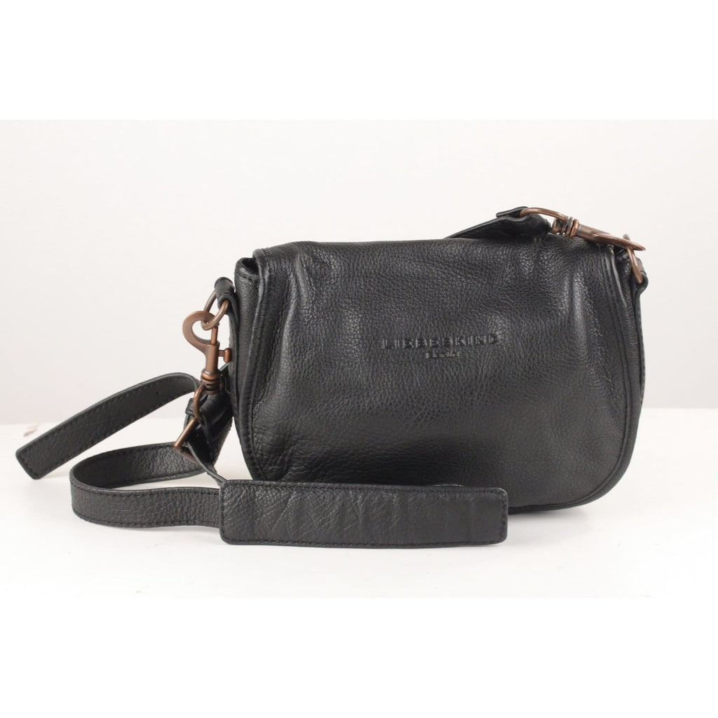 Pebbled Black Leather Flap Crossbody Messenger Bag Opherty & Ciocci