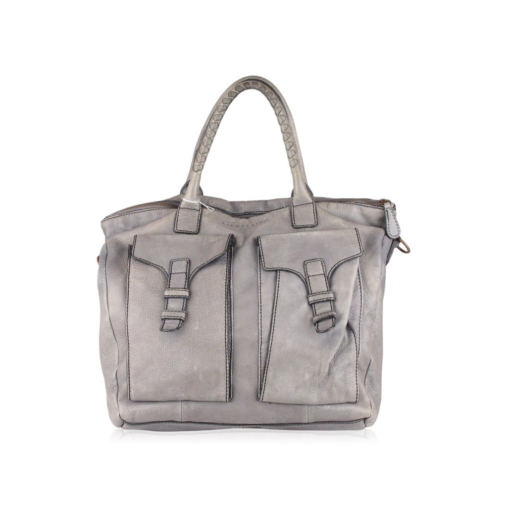Tote Satchel With Front Pockets Opherty & Ciocci