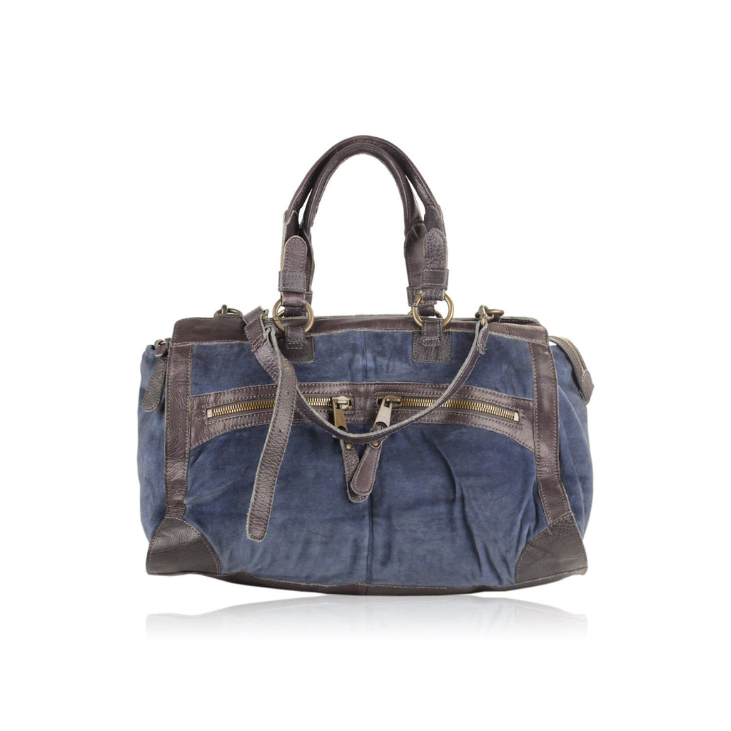 Velvet And Leather Coleen Satchel Opherty & Ciocci
