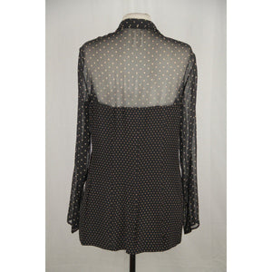 Lolita Lempicka Vintage Black Polka Dot Shirt With Corset Detail Sizem Opherty & Ciocci