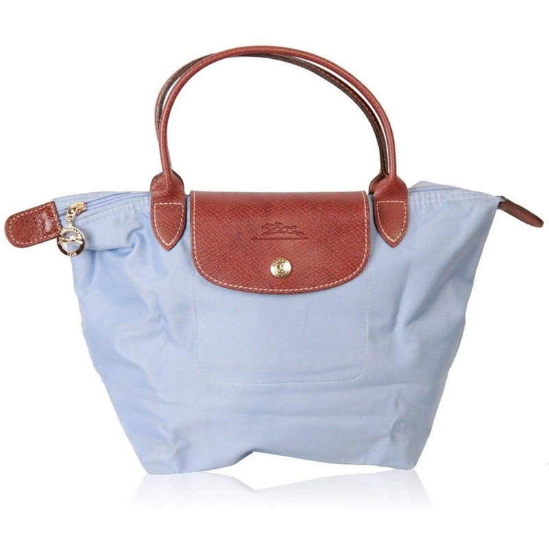 Light Blue Canvas Top Handles Bag Le Pliage Opherty & Ciocci