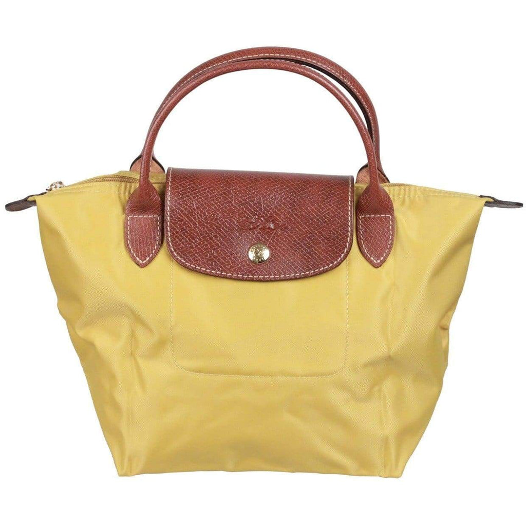 Longchamp Paris Acid Green Canvas Le Pliage Bag Top Handles S Opherty & Ciocci