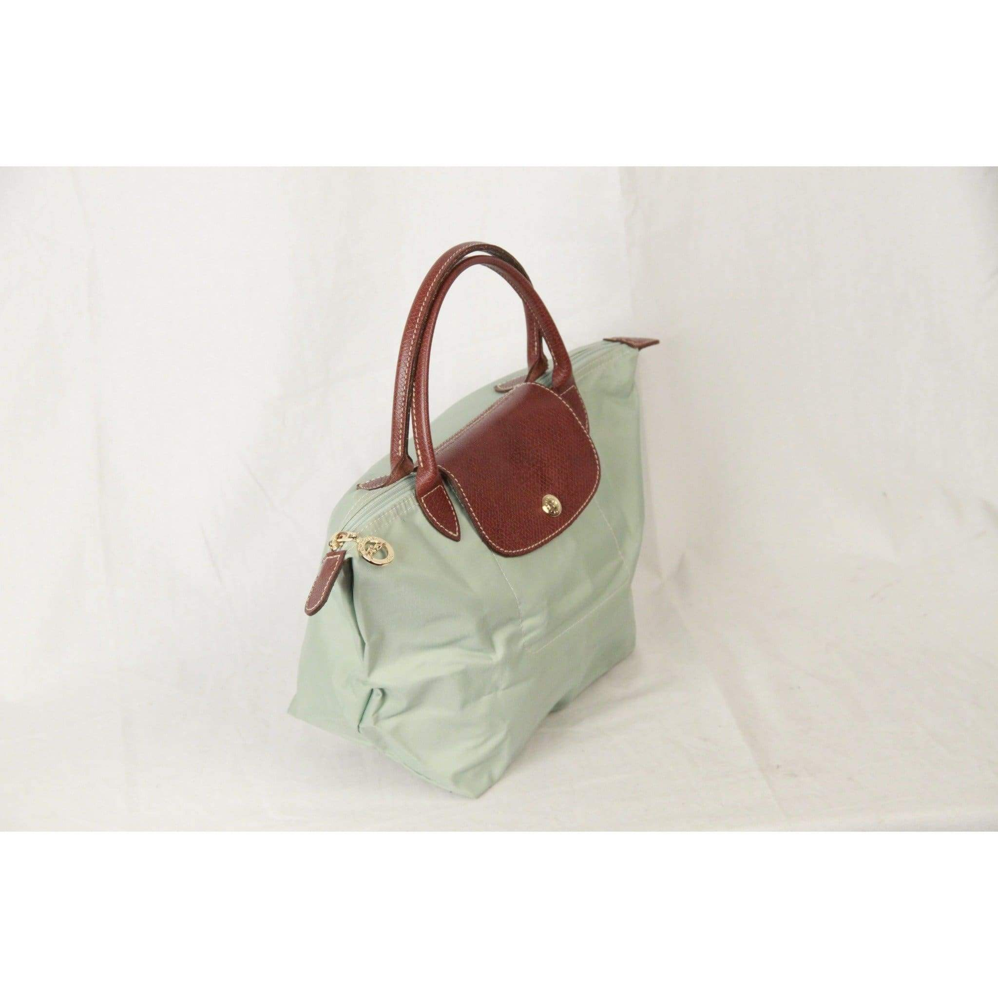 e1f4900dd5 Longchamp Paris Mint Canvas Le Pliage Bag Top Handles S Opherty & Ciocci