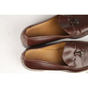 Louis Vuitton Brown Leather Men Loafers Mocassins Shoes Size 8.5 Opherty & Ciocci