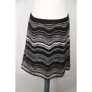 M MISSONI Black & White Light Weight Knit A LINE SKIRT size 42