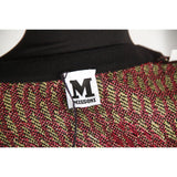 M MISSONI Green & Purple Wool Blend CARDIGAN Size 40