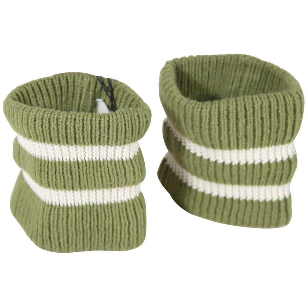 Maison Martin Margiela 6 Green Striped Wool Blend Knit Wristbands Opherty & Ciocci
