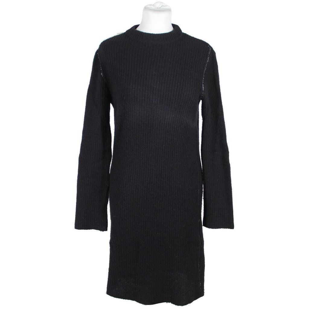 Maison Martin Margiela Black Wool Blend Long Sleeve Dress Sz S Opherty & Ciocci