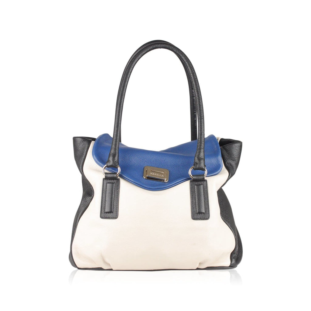 Tricolor Leather Satchel Opherty & Ciocci