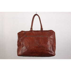 Brown Leather Unisex Weekender Travel Duffle Bag Opherty & Ciocci