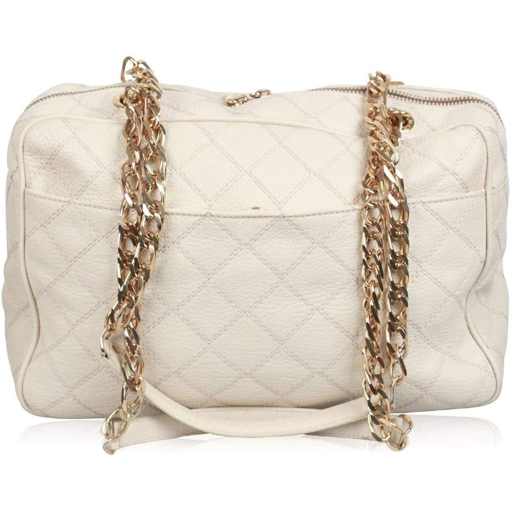 Marina Rinaldi Ivory Quilted Leather Shoulder Bag Opherty & Ciocci