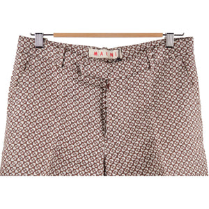 MARNI Brown Cotton & Silk Blend BERMUDA SHORTS Pants SIZE 42 RR