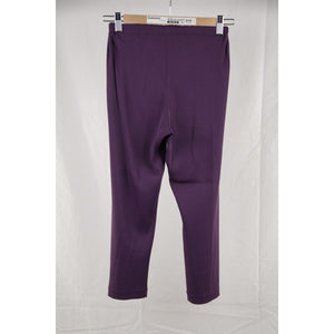 MARNI Purple Stretch Jersey CROPPED LEGGINGS Pants Size 44 RR